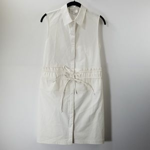 3.1 Phillip Lim White Tie Front Shirt Dress Size 0